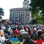 A large crowd was on hand for the first concert of the season.