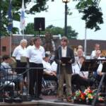 Steve VanWoert, Mercer Mayor, read a proclamation in honor of the Medina Community Band
