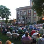 A large crowd enjoyed the great music and dry weather