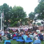 "The Mercer Community Band finshed the evening with ""Stars and Stripes Forever"""