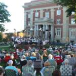 A large crowd was on hand for the season's first concert
