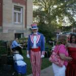 Uncle Sam enjoyed the patriotic music.
