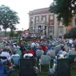 There was a large turn-out for the first concert of the season.